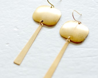 Golden Brass Chandelier Earrings- holiday gift, gift for her