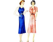 1930s Sun-Back Halter Dress and Jacket Simplicity 2659 Vintage Sewing Pattern Size 14 Bust 32 UNCUT
