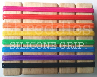 10 silicone grip headbands // nonslip grip headbands for yoga, running // elastic headbands