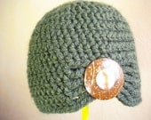 Zen Green Flapper Style Cloche Hat - Design your own hat with colors and brooches - Winter Hats for Women and Baby Girl