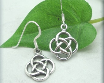 Celtic Eternal Knot Earrings, Irish Jewelry, Sterling Silver, Irish Earrings, Celtic Knot Jewelry, Celtic Knot Earrings (SE621)