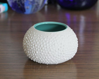 Round Turquoise Ceramic Vase - Sweet Pea in Turquoise Small SHOP SALE