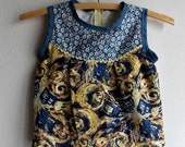 XS 4 Toddler Girls' Cotton Shirt/Tunic Handmade OOAK Ready to Ship Exploding Tardis