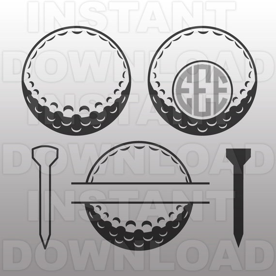 Download Golf Ball SVG File Cutting Template-Clip Art for Commercial