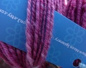 LITTLE PURPLE ORCHIDS - 232 yards Handspun Superwash Merino Sport weight Yarn