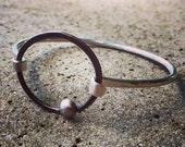 Orbit Sterling Silver & Copper Latch Bracelet