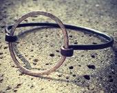 Sterling Silver & Copper Circle Latch Bracelet