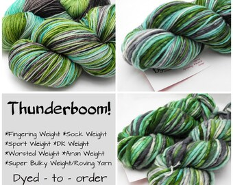 Thunderboom - Hand Dyed Yarn - Dyed to Order