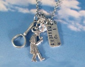 Detective Mystery Necklace Stainless Steel, Sterling Silver Chain add tag Personalized Jewelry Magnifying Glass Sherlock Holmes