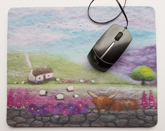 Mousepad, Mouse Mat Bothy and Coo
