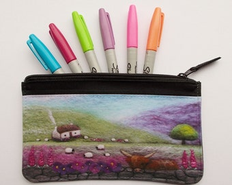 Printed Zip Pouch Bothy and Coo Design