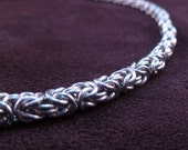 Classic Byzantine Necklace - Skinny - Chain Maille