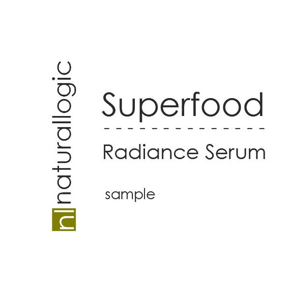 Organic Superfood Radiance Serum. Super Fruit. Sensitive, Dry, Mature skin serum.  Natural Organic Chemical Free Non Toxic Skin Care. Vegan.