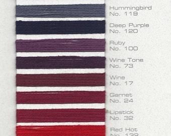 5/2 Merc Cotton Mini Cones Purple Red Beige Brown