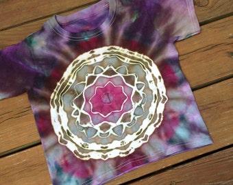 4T Tie Dye Shirt Mandala Design