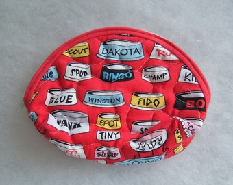 Small Quilted Purse - Dog Dishes