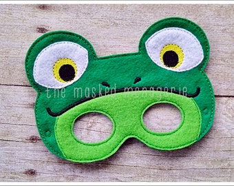 Frog Mask Toad Mask Halloween Mask Stocking Stuffers Pretend Play Creative Play Masks Halloween Mask Felt Mask