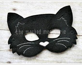 Cat Mask, Stocking Stuffer, Birthday Party Favors, Halloween Mask, Easter Basket, Pretend Play, Creative Play Masks, Felt Mask