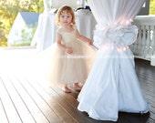 Champagne Flower Girl Dress