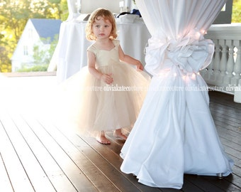 Champagne Flower Girl Dress