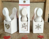 SHOP CLOSING SALE - Martha Stewart Brand Punches by EKSuccess - Love, Kiss Me and Snowflake