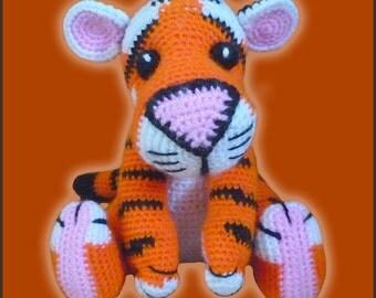 Amigurumi Pattern Crochet Tony Tiger DIY Digital Download