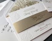 SAMPLE: Letterpress Invitation, Betsy & John