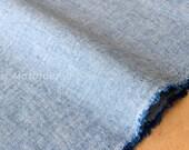 Japanese Fabric - yarn dyed chambray - blue - 50cm