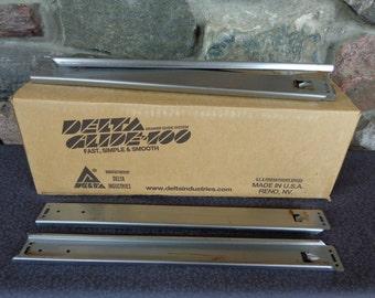 Delta Glide 100 Box of 50 Steel Channels Tracks Rails Size 154 Cabinet Drawer Hardware