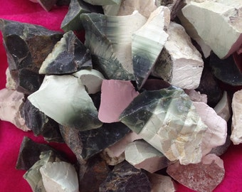 Exquisite Natural Imperial Jasper Parcels of 2    Spiritual Crises, Loss of Self      Rough or Raw Stones
