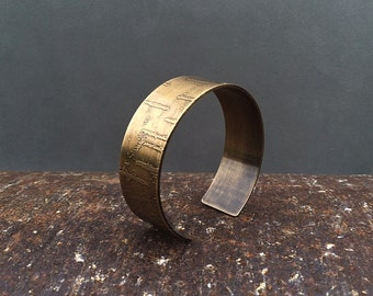 birch bark cuff bracelet | birch tree | birch bark bracelet | copper cuff | brass cuff