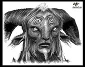 "Print 8x10"" - The Faun - Pans Labyrinth Pale Man Fantasy Surreal Dark Art Guillermo del Toro Spanish Europe Horror Mexican Monster Goat"