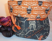 Happy Owloween project bag by AnniePurl
