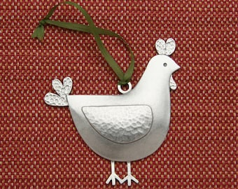 beehive chicken christmas ornament