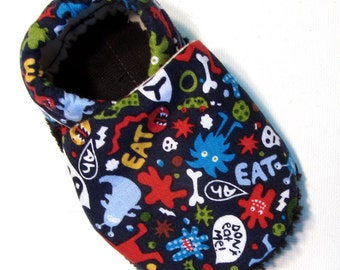 Little Monsters Soft Soled Baby Shoes 12-18 mo