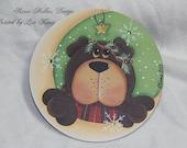 Over the Moon Bear Ornament Renee Mullins design