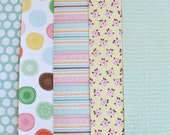 "5 Dear Lizzy Adhesive Fabric Paper Fabric Sticker A4 Size 8.5"" x 11.5"""