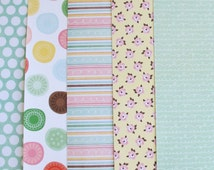 """5 Dear Lizzy Adhesive Fabric Paper Fabric Sticker A4 Size 8.5"""" x 11.5"""""""