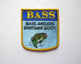 Bass Anglers Sportsman Society embroidered sew-on patch