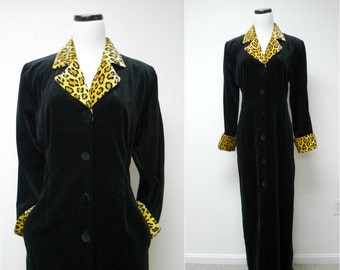 CHRISTIAN DIOR . Saks Fifth Avenue . cotton housecoat / dress . small . made in USA