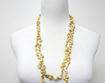 SALE!!! . JULIE . coco shells . 2-tier long strand necklace