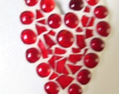 mosaic heart refrigerator magnet red