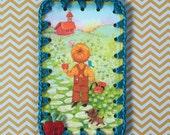 Back to School Cutie / Crochet Vintage Illustration Ornament / Card / Tag