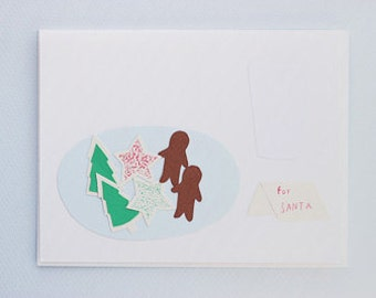 Cookies for Santa - papercut collage card