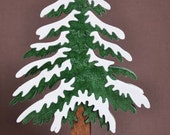 Beautiful Hemlock  Pine Christmas Tree Puzzle Wooden Toy Decoration Hand Cut