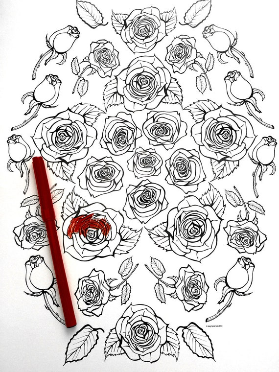 rose coloring pages games - photo#46
