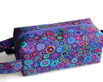 Boxy Bag Knitting Project Bag - Paperweight in Purple