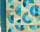 Quilted Wall Hanging With Circles and Donuts