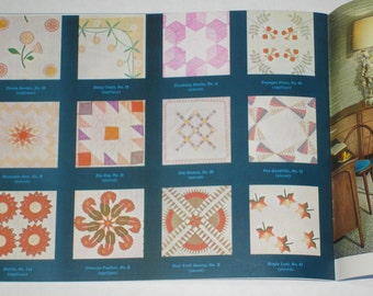Vintage 1960s Mountain Mist Blue Book Of Quilts Phoebe Edwards Quilt Patterns