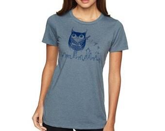 Seattle Owl woman Tee